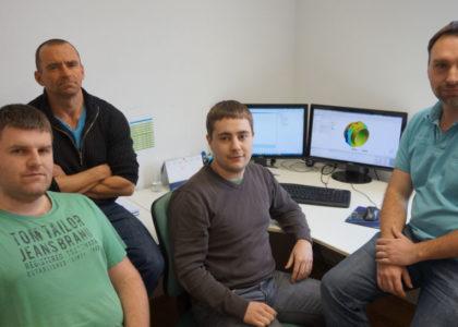Das Berechnungsteam der Firma Schatz v.links: Simon Eigner, Günther Mühlbachler, Christian Kagerhuber, Siegfried Schachinger