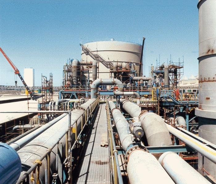 SALDANHA, Südafrika Corex C2000 Anlage, Verbund mit DRI Anlage