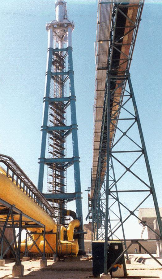SALDANHA, Südafrika Corex C2000 Anlage, Verbund mit DRI Anlage - Fackelanlage