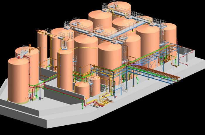 Tankfarm for fuel, raw material and additives