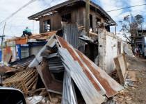 Totale Zerstörung nach dem Taifun